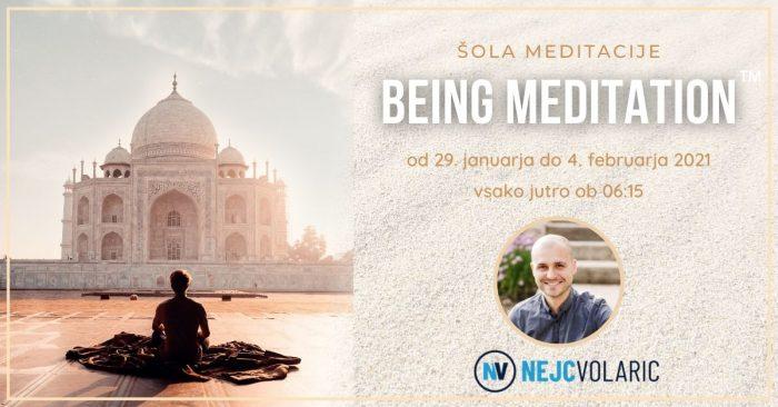 Šola meditacije Being Meditation™ - Nejc Volarič